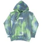 Hoodie High Blot Tie Dye Green