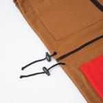 Color Block High Vest Brown/Red