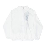 Lightweight Zipped High Jacket White/Blue