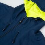 Water Resistant Jacket High Diagonal Navy