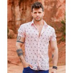Camisa Social Pink Coconut Tree Mc