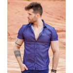 Camisa Social Blue In Red Mc