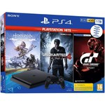Console Playstation 4 Slim 1 Tb Hits Bundle 5 + 3 Jogos