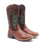 Bota Country Feminina Dilley - Fossil - Marrom / Café