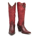 Bota Country Feminina Iowa - Vermelha