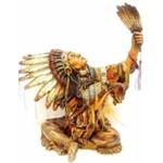Índio Cacique com Penacho Sentado