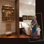 Nossa Senhora Maria Passa na Frente em Resina Importada 30cm