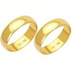 Alianças de casamento e noivado em ouro 18k 750 tradicional 5 mm