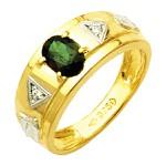 Anel de Formatura reforçados com diamantes em Ouro 18k
