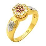 Anel de Formatura modelo chuveiro com diamantes em Ouro 18k