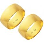 Alianças de casamento e noivado em ouro 18k 750 tradicional 8mm