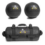Kit De 2 Wall Ball +power Bag Crossfit Funcional