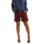Shorts Jeans Feminino Hoboken Brown