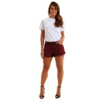 Shorts Jeans Feminino Queens Wine