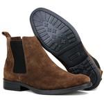 Bota Chelsea Boots Lançamento ESCRETE 777 Café Em couro Legitimo