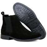 Bota Chelsea Boots Lançamento ESCRETE 777 Preta Em couro Legitimo