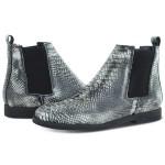 Bota Chelsea Couro Anaconda Escrete Boots Lançamento Branca