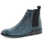 Bota Chelsea Couro Anaconda Escrete Boots Lançamento Azul