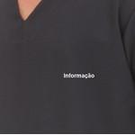 informação bordado branco - Bolso