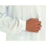 Jaleco Unissex em Microfibra Gola Padre com punho Manga Longa - Branco