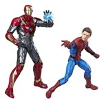 MARVEL LEGENDS - SPIDERMAN HOMECOMING - SPIDER MAN AND IRON MAN SENTRY 2-PACK