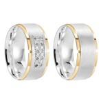 Alianças Crown ♥ Namoro e Compromisso em Prata 0,950