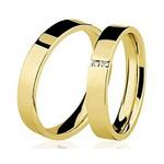 Par De Aliança Casamento De Ouro 18k Com 3mm e Diamantes