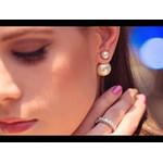 Brinco De Ouro 18k Estilo Mise En Diores
