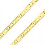 Corrente De Ouro 18k Piastrine De 1,2mm Com 60cm