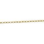 Corrente De Ouro 18k Português De 40cm Com Corações Fixos