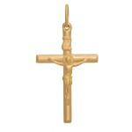 Pingente De Ouro 18k Crucifixo Com 35mm