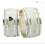 Aliança Prata Diamantada Giratória 11mm(par)