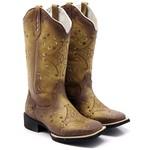 Bota Texana Feminina Hopper em Couro Legítimo Envelhecida