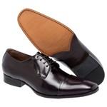 KIT 01 Par de Sapatos Cromo Pinhão + Cinto de Couro