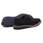 Sapato Masculino Brogue Derby Camurça Preta 110001