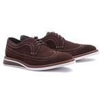 Sapato Masculino Brogue Derby Camurça Café 110002