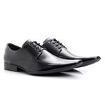 Sapato Social Masculino Couro Cromo Preto 157