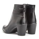 Bota Montaria Cano Curto Couro Comfort Black 2803