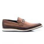 Sapato Casual Oxford Masculino Couro Whisky 523