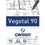 Bloco Papel Vegetal Canson 92,5g/m² A4 21 x 29,7 mm c/50fls.