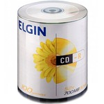 CD-R ELGIN 700MB/80MIN/52X - LOGO C/100UN.