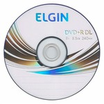 DVD+R DUAL LAYER ELGIN 8.5GB LOGO PINO C/10UN.