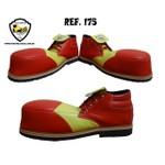 Sapato de Palhaço Vermelho/Amarelo Ref 175 infantil