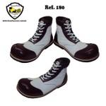 Sapato Palhaço Branco e Bordô Ref 180