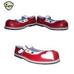 Sapato de Palhaço Feminino Infantil Vermelho/Branco com Coração Ref 902