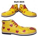 Sapato de palhaço chato coração Ref 804