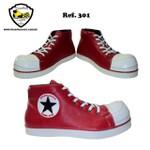 Sapato de Palhaço Clownstar Vermelho Ref 301