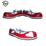 Sapato de Palhaço Feminino Vermelho Fivela Detalhe de Coração Ref 902