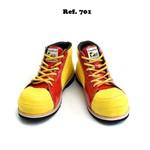 Sapato de Palhaço Infantil Amarelo/Vermelho Detalhe Coração Ref 701