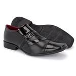 Sapato Social Preto 838 Vp + Carteira
